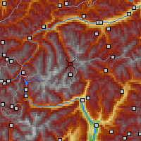 Nearby Forecast Locations - Sölden - Carte