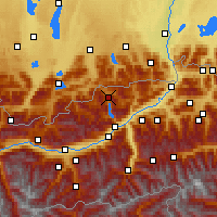 Nearby Forecast Locations - Achensee - Carte