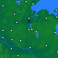 Nearby Forecast Locations - Baie de Lübeck - Carte