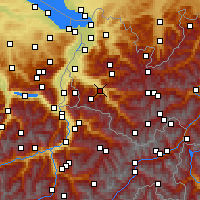 Nearby Forecast Locations - Bludenz - Carte