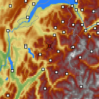 Nearby Forecast Locations - Le Grand-Bornand - Carte
