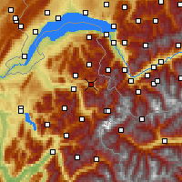 Nearby Forecast Locations - Le Grand Massif - Carte