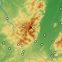 Nearby Forecast Locations - Massif des Vosges - Carte