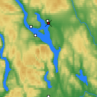 Nearby Forecast Locations - Hamar - Carte