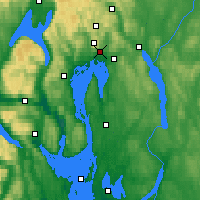Nearby Forecast Locations - Oslo - Carte