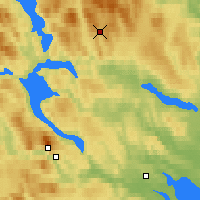 Nearby Forecast Locations - Korsvattnet - Carte
