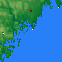 Nearby Forecast Locations - Örnsköldsvik - Carte