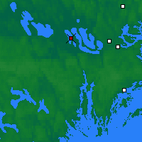 Nearby Forecast Locations - Adelsö - Carte