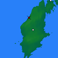 Nearby Forecast Locations - Visby - Carte
