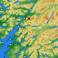 Nearby Forecast Locations - Ben Nevis - Carte