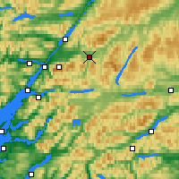 Nearby Forecast Locations - Tulloch Roy Bridge - Carte