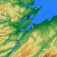 Nearby Forecast Locations - Cromarty - Carte