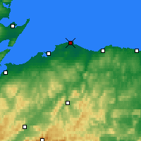 Nearby Forecast Locations - Lossiemouth - Carte