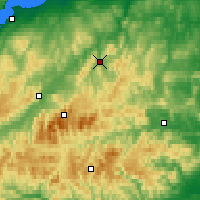 Nearby Forecast Locations - Glenlivet - Carte