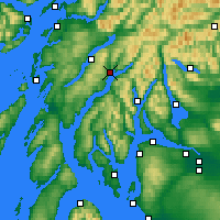 Nearby Forecast Locations - Inveraray - Carte