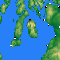 Nearby Forecast Locations - Lochranza - Carte