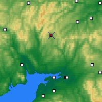 Nearby Forecast Locations - Eskdalemuir - Carte