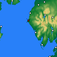 Nearby Forecast Locations - Whitehaven - Carte