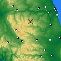 Nearby Forecast Locations - Stanhope - Carte