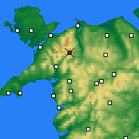 Nearby Forecast Locations - Snowdonia - Carte