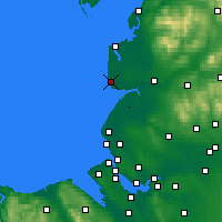 Nearby Forecast Locations - Blackpool - Carte