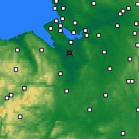 Nearby Forecast Locations - Chester - Carte