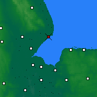 Nearby Forecast Locations - Skegness - Carte