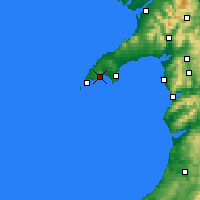 Nearby Forecast Locations - Llŷn - Carte
