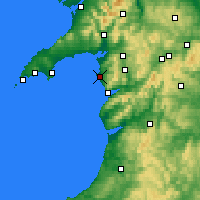 Nearby Forecast Locations - Harlech - Carte