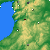 Nearby Forecast Locations - Machynlleth - Carte