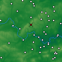 Nearby Forecast Locations - High Wycombe - Carte