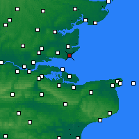 Nearby Forecast Locations - Shoeburyness - Carte