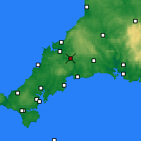 Nearby Forecast Locations - Bodmin - Carte