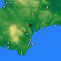 Nearby Forecast Locations - Exeter - Carte