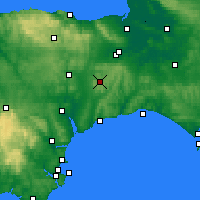 Nearby Forecast Locations - Taunton - Carte