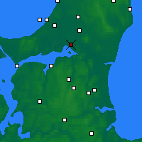 Nearby Forecast Locations - Aalborg - Carte