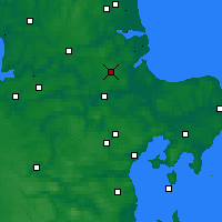 Nearby Forecast Locations - Hald - Carte