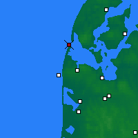 Nearby Forecast Locations - Thyborøn - Carte