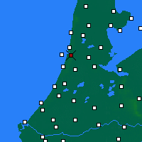Nearby Forecast Locations - IJmuiden - Carte