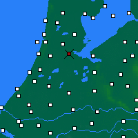 Nearby Forecast Locations - Amsterdam - Carte