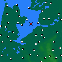 Nearby Forecast Locations - Houtribdijk - Carte