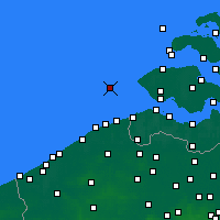 Nearby Forecast Locations - Vlakte van de Raan - Carte