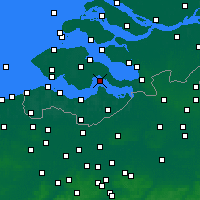 Nearby Forecast Locations - Hansweert - Carte