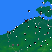 Nearby Forecast Locations - Blankenberge - Carte