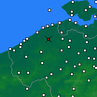 Nearby Forecast Locations - Bruges - Carte