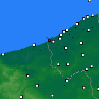 Nearby Forecast Locations - La Panne - Carte