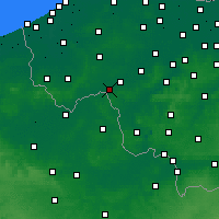 Nearby Forecast Locations - Wevelgem - Carte