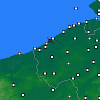 Nearby Forecast Locations - Middelkerke - Carte