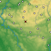 Nearby Forecast Locations - Neufchâteau - Carte