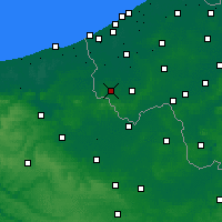 Nearby Forecast Locations - Poperinge - Carte